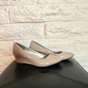 Patent Leather Franci Wedge Pump by Bandolino